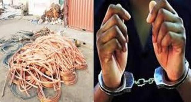 المهدية : القبض على شخص سرق 1300 كغ من النحاس تابعة لشركة اتصالات