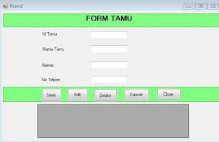 Form Input Data Tamu