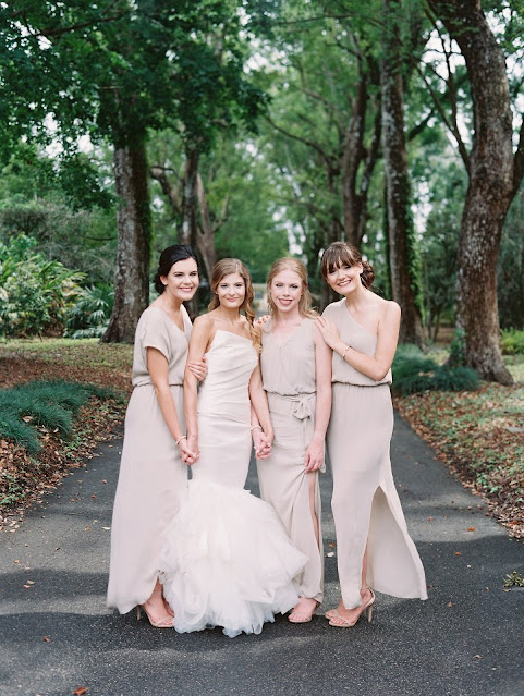 bride and modest bridesmaids