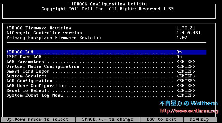 如何設定Dell PowerEdge R610 的Remote Management (iDRAC)? ~ 不自量力
