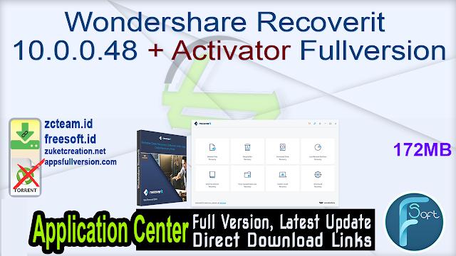 Wondershare Recoverit 10.0.0.48 + Activator Fullversion