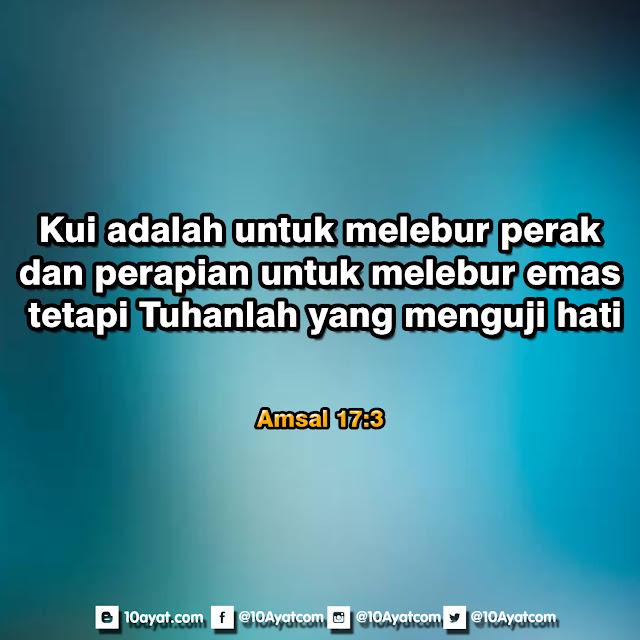 Amsal 17: 3