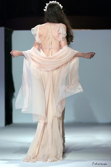 robe de mariée de fée en mousseline et satin de soie