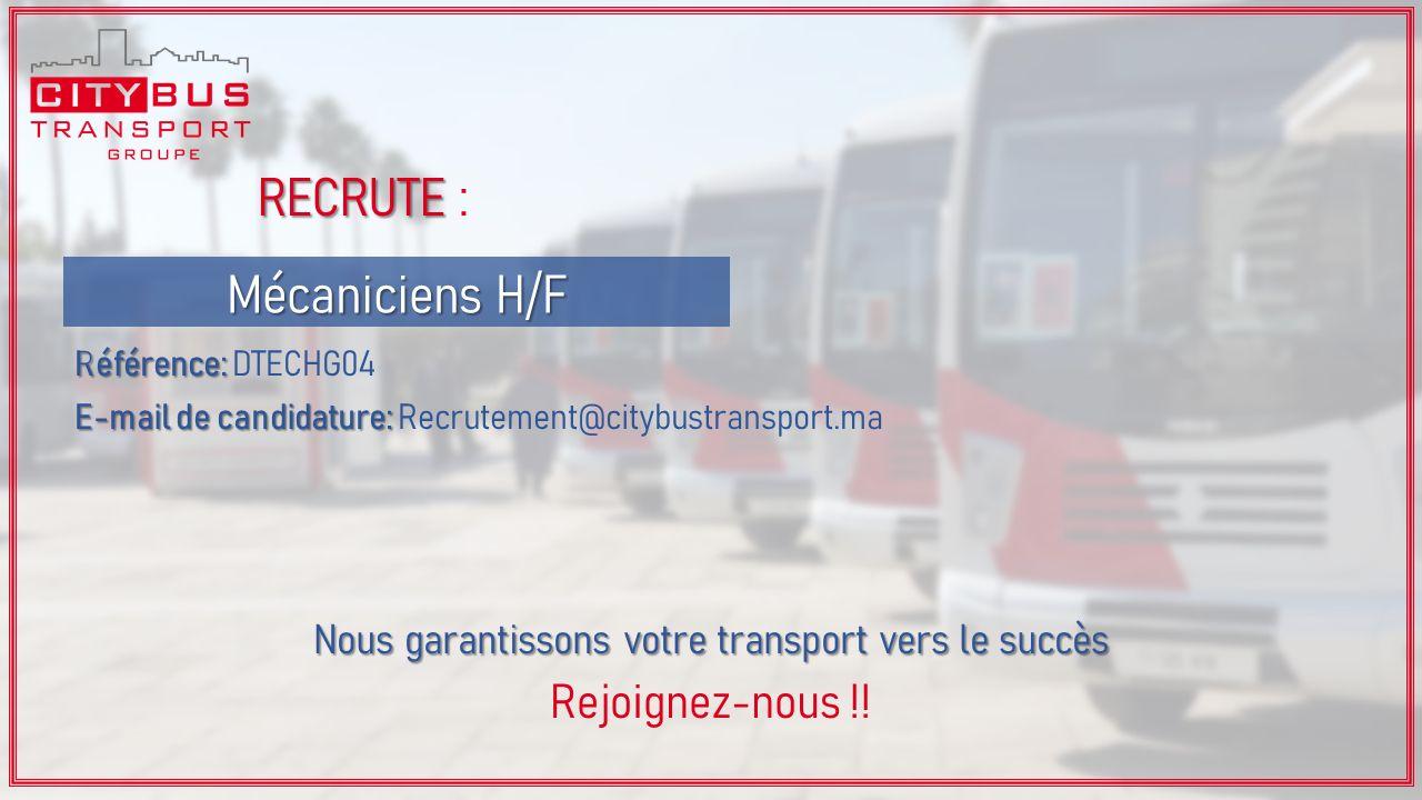مجموعة سيتي باص للنقل الحضري توظيف في عدة مناصب بمختلف مدن المملكة Citybus%2Brecrute