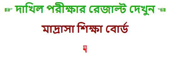 দাখিল পরীক্ষার রেজাল্ট - Dakhil Exam Result