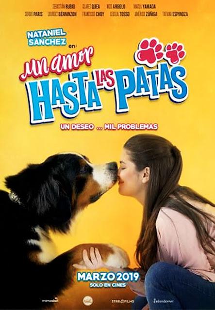 """Afiche de """"Un amor hasta las patas"""" con Nataniel Sanchez"""