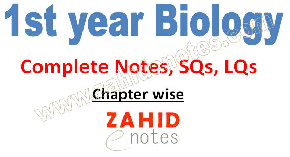 1st year biology complete notes pdf download