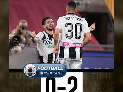 Video AS Roma 0-2 Udinese: Vòng 29, VĐQG Italia