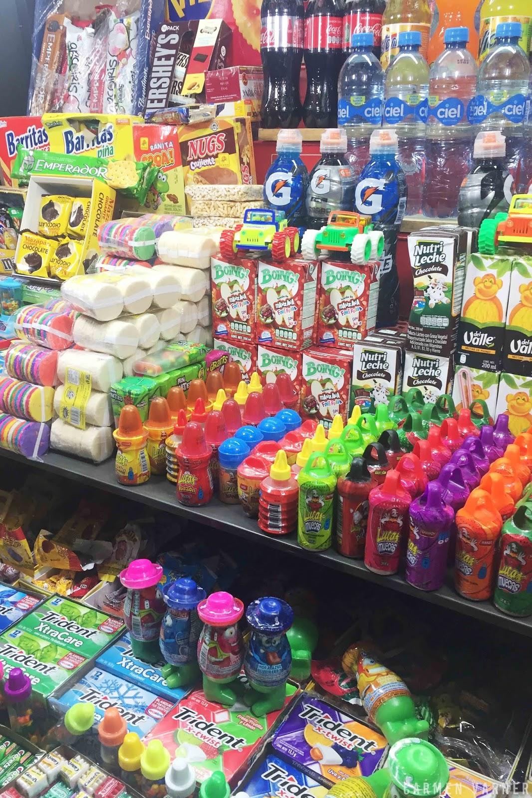 Snacks goodies from the local vendors in Queretaro Centro Mexico
