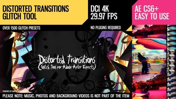 Videohive – Distorted Transitions (Glitch Tool) 18524764