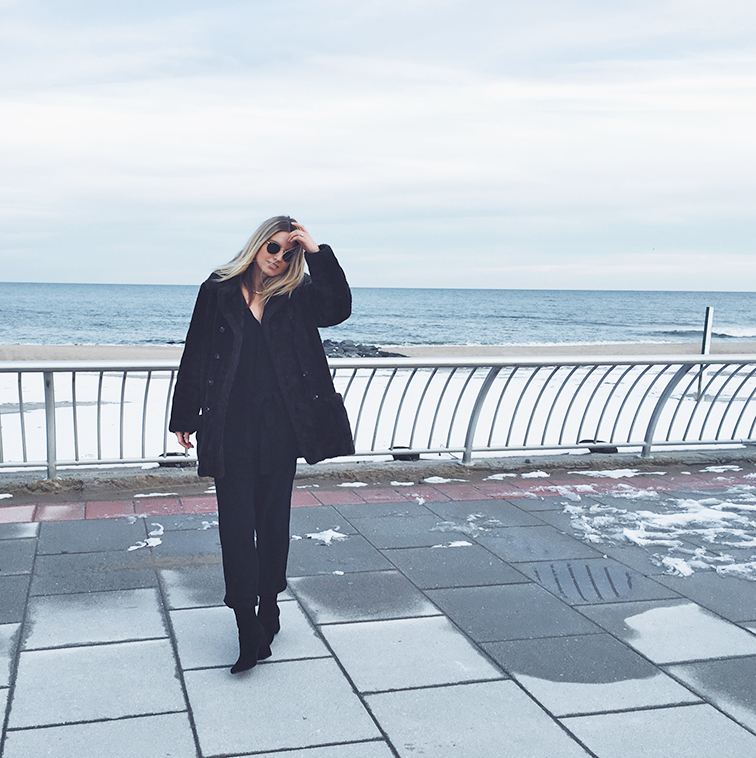 fashion over reason, jersey shore winter beach, reformation, free people