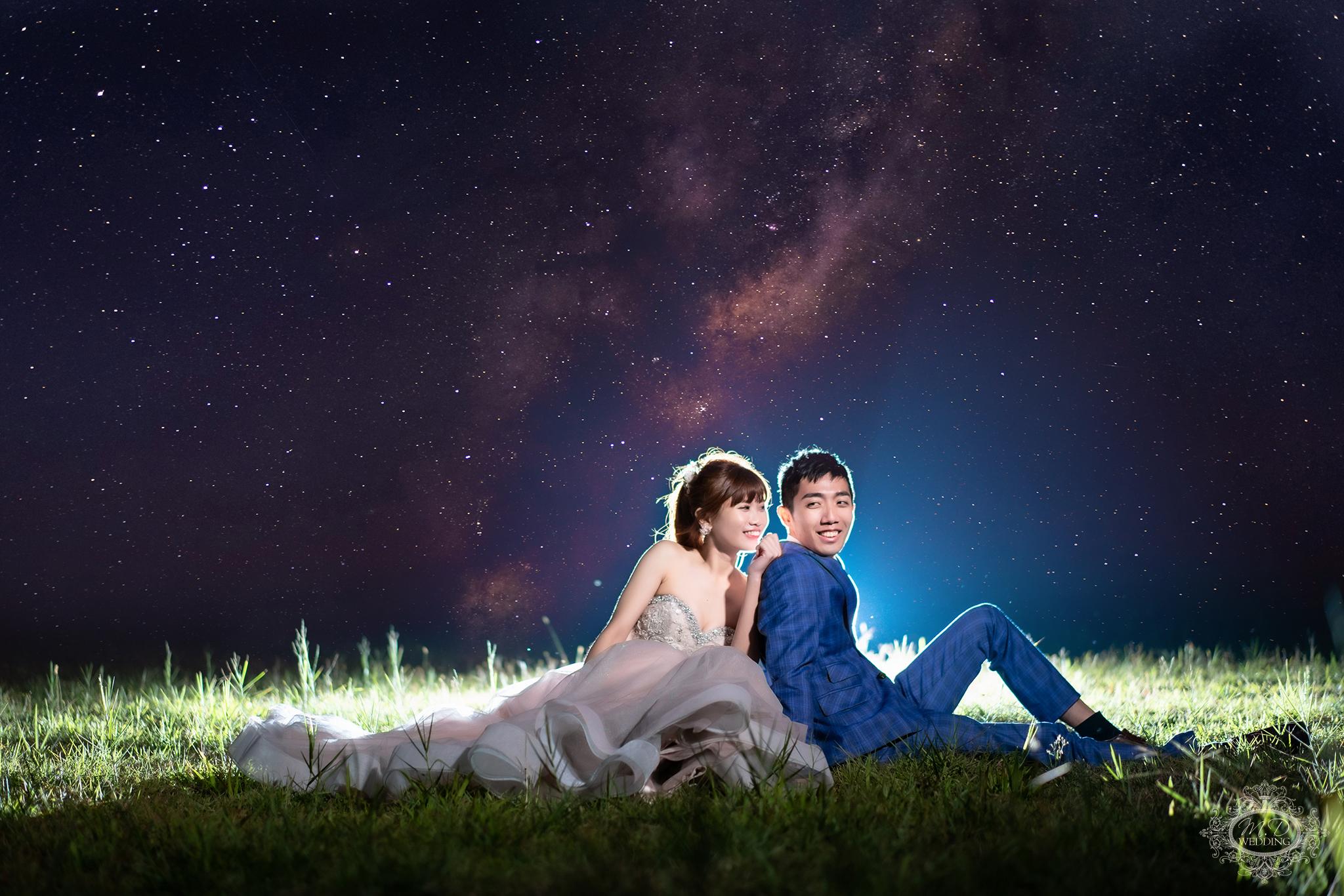 星空婚紗 台北婚紗推薦 浪漫風格