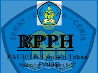 RPPH PAUD/TK Usia 4-5 Tahun Semester 2 Minggu 9-17
