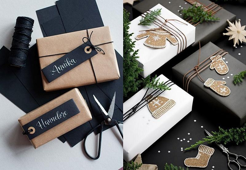 simple scandinavian giftwrapping