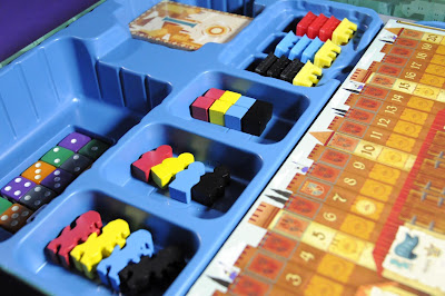 Insert and components for Coimbra boardgame