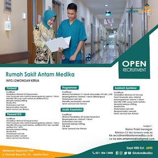 Info Lowongan Kerja Rumah Sakit Antam Medika Jakarta Timur