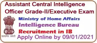 Intelligence Bureau ACIO Recruitment Examination 2020-21