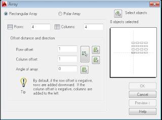 Perintah Array klasik di AutoCAD terbaru.