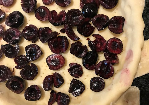 making a frangipane tart