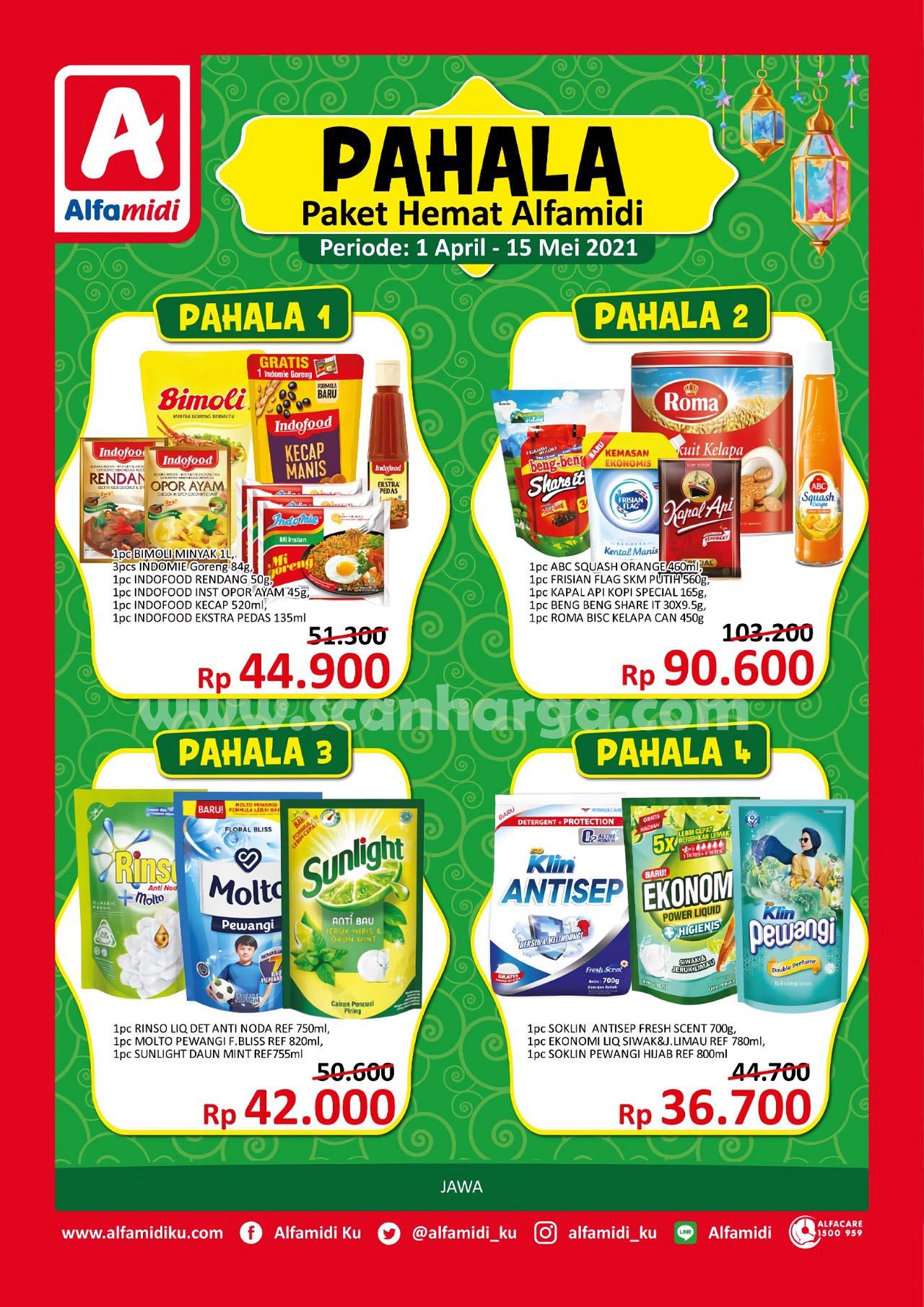 ALFAMIDI Promo PAHALA Paket Hemat 1 April - 15 Mei 2021