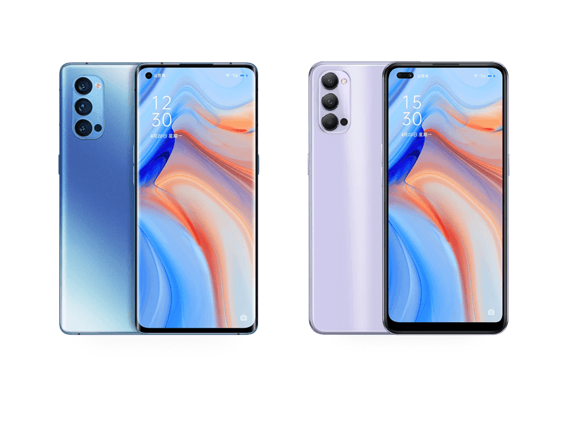 OPPO Reno4 series with AMOLED displays, 65W charging now official in China!