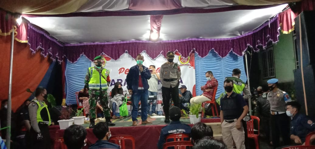 Satgas Covid-19 Kecamatan Kalikajar Bubarkan Orgen Tunggal