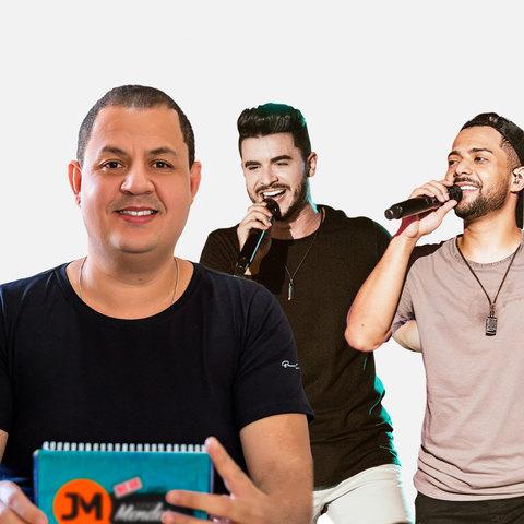 O programa 'No Ar com Junior Mendes'  recebeu a dupla sertaneja Thiago e Graciano, que em breve lançará novo EP