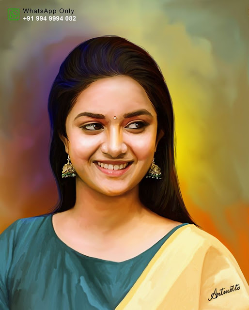Keerthi Suresh Digital Painting