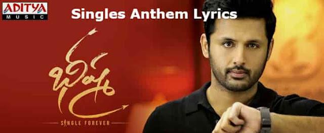Singles Anthem Lyrics - Bheeshma