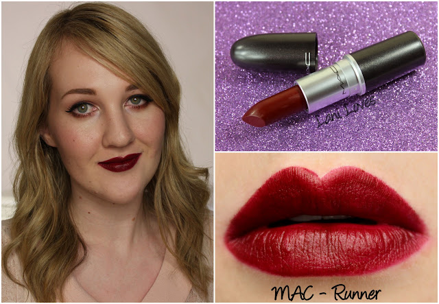 MAC Runner lipstick swatch
