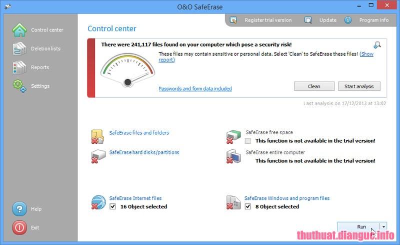 Download O&O SafeErase Professional 11.0.151 Full key – Xóa sạch dữ liệu