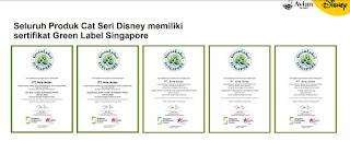 sertifikat avian brands disney