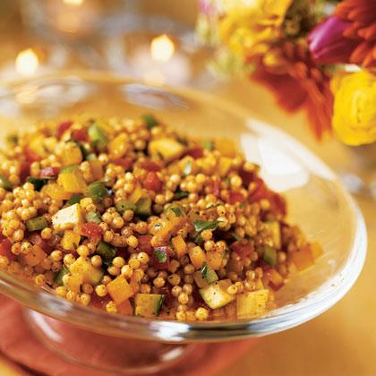 Israeli Couscous Salad with Summer Vegetables Recipe
