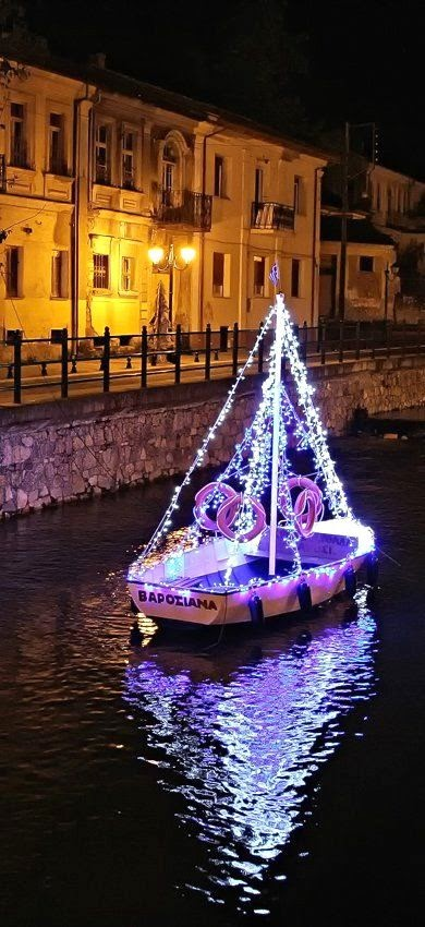 a boat decorated for greek christmas - Greek Christmas Decorations