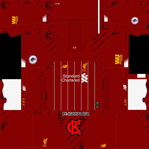 Liverpool FC 2019/2020 Kit - Dream League Soccer Kits