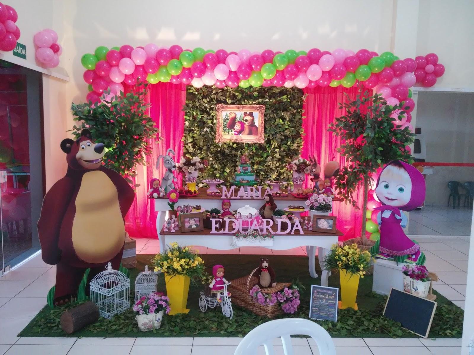 Balloomm Salão De Festas Festa Masha E O Urso