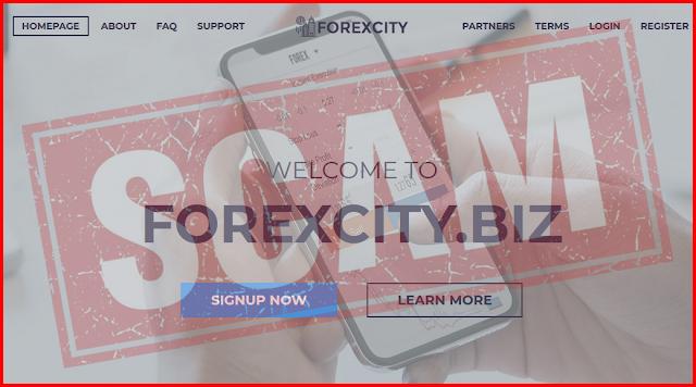 Мошеннический сайт forexcity.biz - отзывы и информация