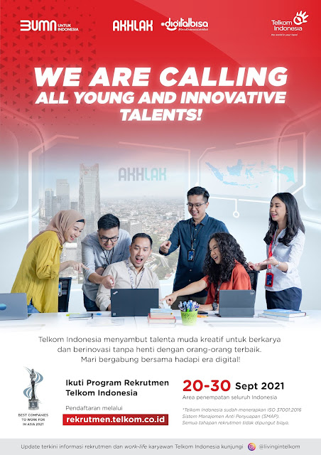 Rekrutmen Telkom Indonesia Fresh Graduate 2021