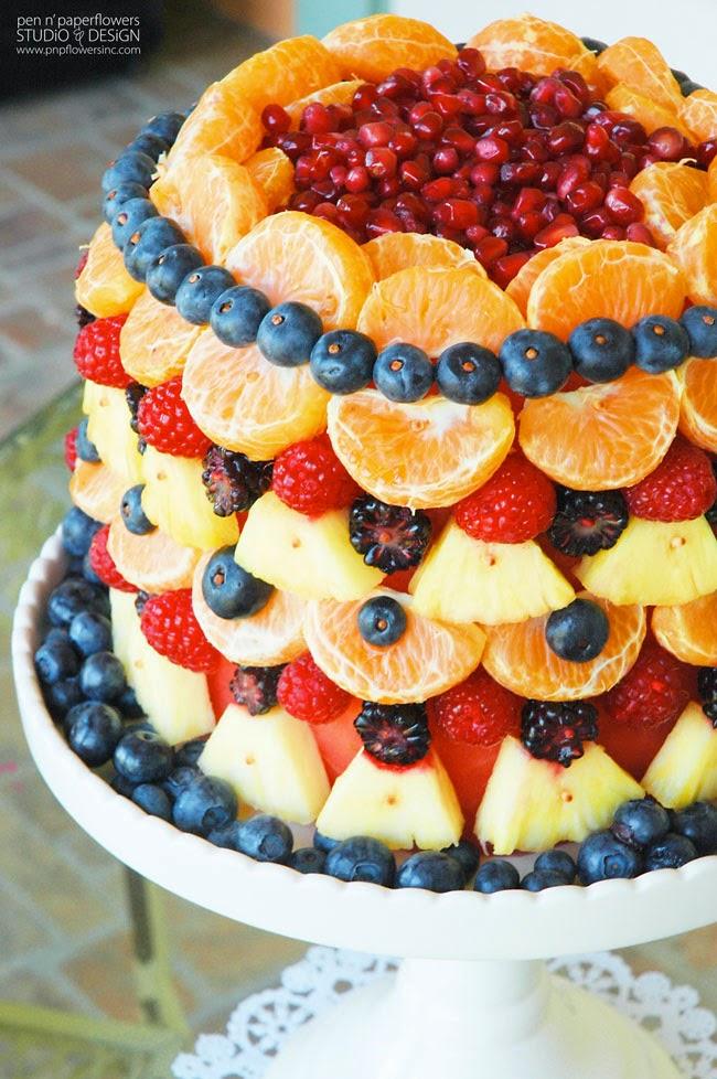 all fruit birthday cake - photo #19