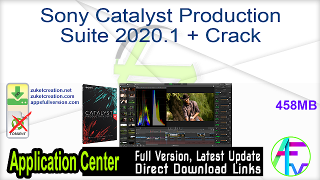Sony Catalyst Production Suite 2020.1 + Crack