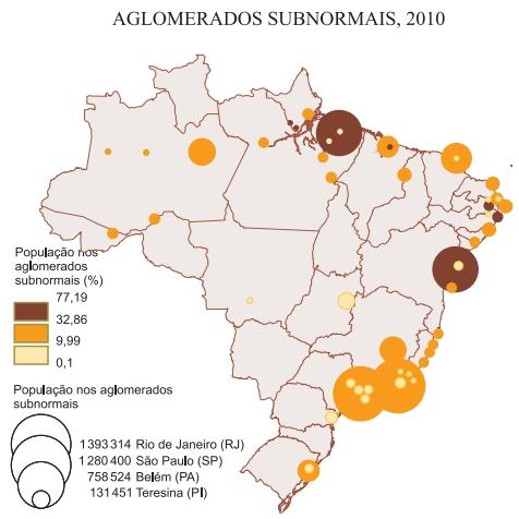 Aglomerados subnormais, 2010
