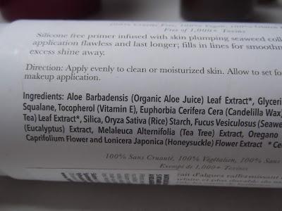 Zmatňujúca báza pod make-up s vitamínmi, antioxidantmi a kolagénom z morských rias zloženie
