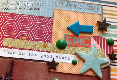 embellishment cluster scrapbook scrapbooking layout page shimelle laine design decision class october afternoon starshine #designdecisionsclass