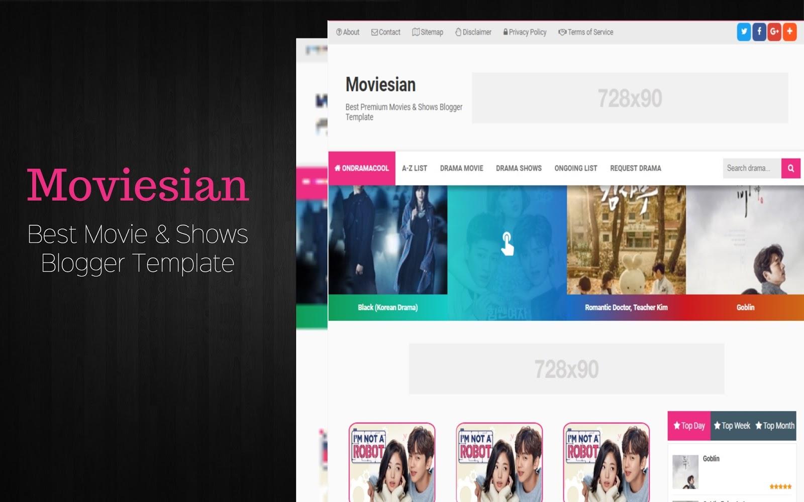 Moviesian Movies, Anime & Series Blogger Template - ECDLTheme - Free ...