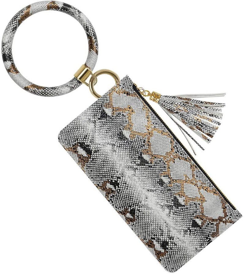 50% OFF Keychain Bracelet with Phone Wallet(ONLY White Snakeskin)