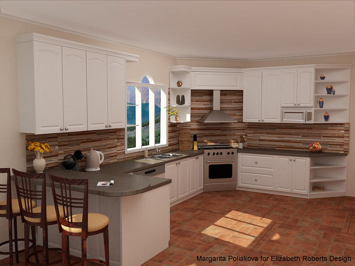 wood kitchen backsplash elizabeth roberts design how to update a kitchen with rustic floors 4107