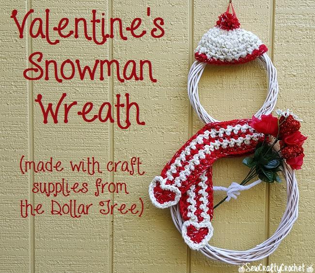 Dollar Tree Valentines Day Snowman Wreath Tutorial Valentines