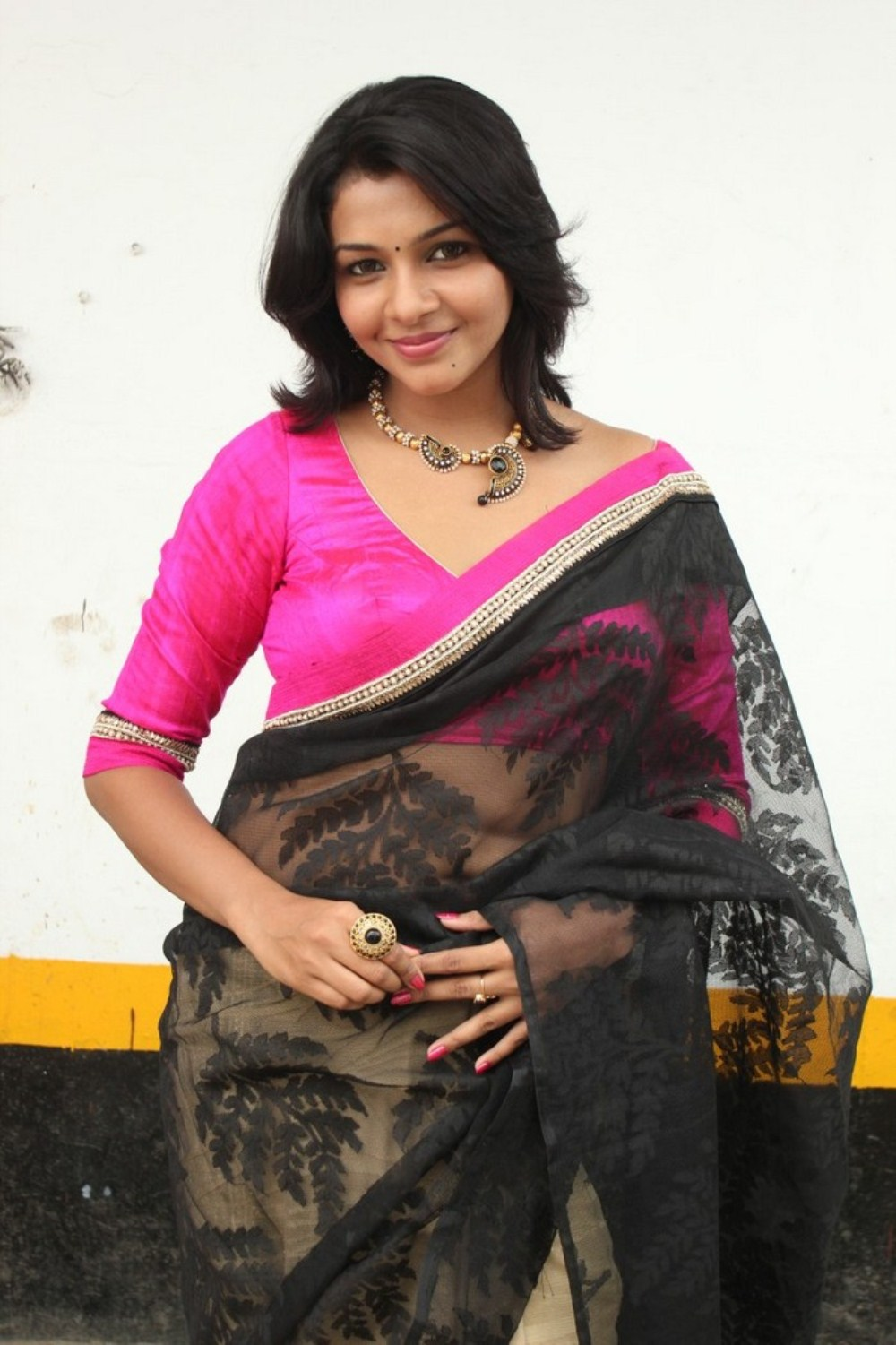 Saranya nag new hot photos in saree