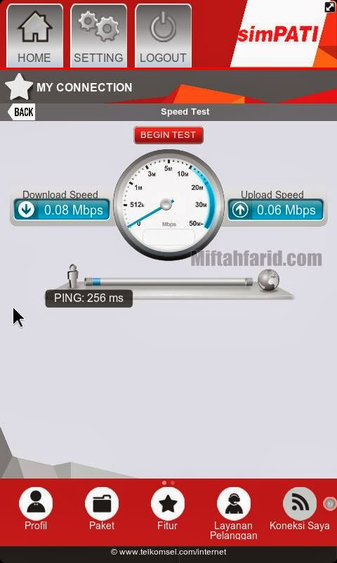 Test Speed MyTelkomsel
