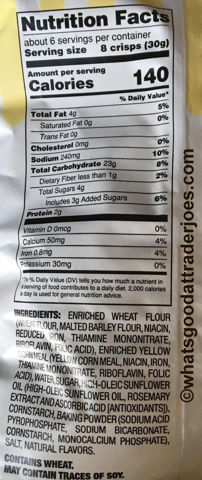 What\'s Good at Trader Joe\'s?: Trader Joe\'s Cornbread Crisps